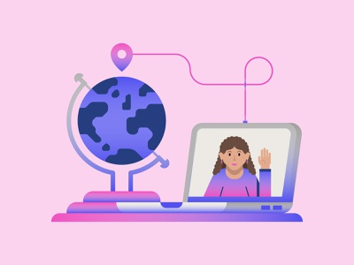 Translations Spot Illustration. icons graphic illustrator icon graphic design flat design design earth connecting people vector spot illustration illustration