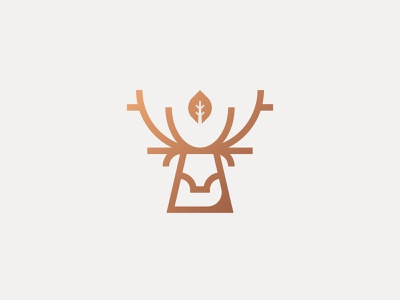 Deer logo | WIP animal animal logo stag hiking national park tree logomark highlands outdoors scotland nature deer graphic logo branding icon flat design design vector illustration