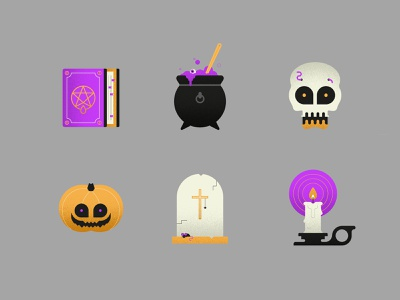 Halloween Icon Set logo graphic illustrator icon set icon pumpkin ghost spooky halloween flat design design vector illustration