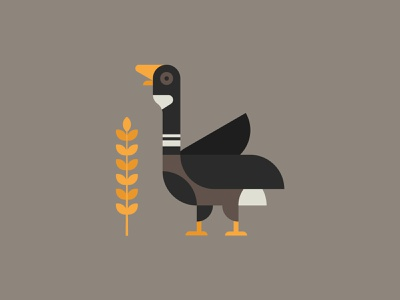 Flying South graphic design flat design design birdlogo logodesign logo illustraion illutrator harvest corn plant duck wildlife migration autumn nature bird