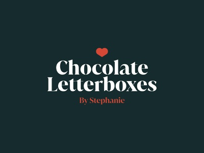 Chocolate Letterboxes graphic freelance business chocolate type logotype branding logo typography graphic design design vector illustration