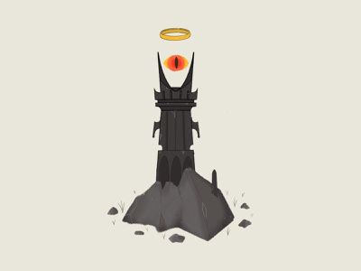 Eye of Sauron poster branding icon illustrator graphic procreate lord of the rings book flat design graphic design design illustration