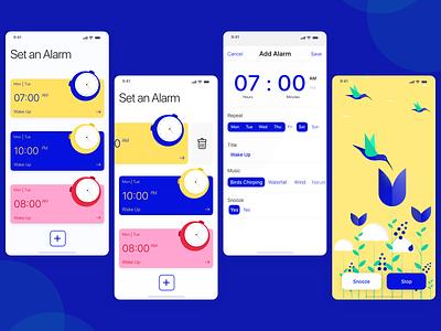 Alarm App Exploration app illustration
