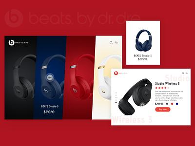 Beats flat ui design web app