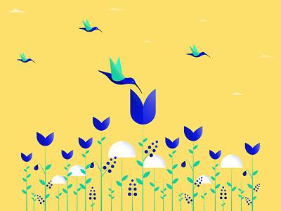 Nature birds nature illustration nature vector design illustration