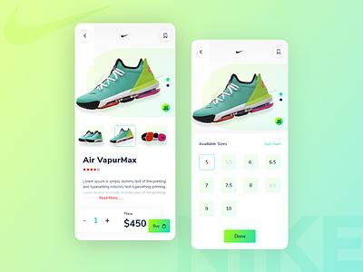Nike App Exploration e-commerce application ux ui app design application app nike running nike air