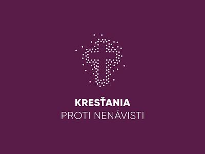Kresťania proti nenávisti - logo branding design purple logo
