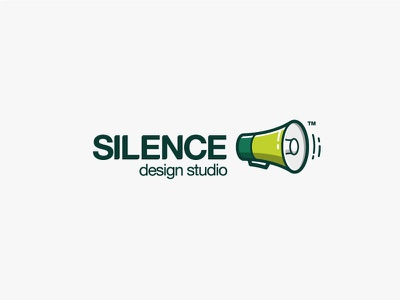 Silence - design studio studio graphic megaphone silence logo