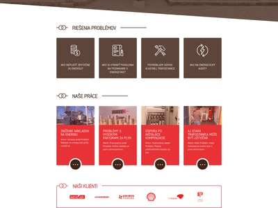 MEZ website brown red ux ui animation substation electric energetic web