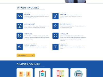 Involink website onepage site web ui invoice programming sitris involink blue animation