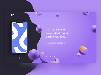 Website Portfolio For Designer web design clean website designer website ux ui clean web
