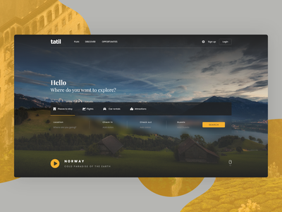 Tatil - Travel & Trip Landing Page ui ux clean landing page simple website design web design minimalist destination booking travel travel agency trip vacation adventure explore traveling