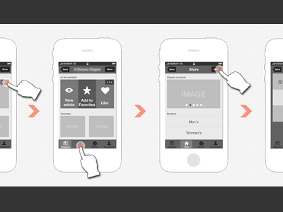 Wireframing all day long pt.II wireframe app ui sketch interface iphone workflow mockup concept