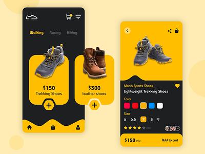 Shoes App - UI Design online shopping