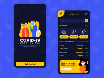 COVID-19 Mobile App most popouler design most popouler design latest app design 2020 covid-19