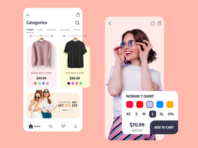 Clothing Store girls night out shopping fashion design fashion uiuxdesign uidesign application design application ui ecommerce online marketing online shopping online store online shop