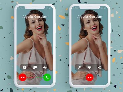 Incoming Call Screen ui