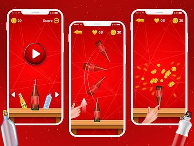 Bottle Flip Challenge icon ux ui photoshop illustration