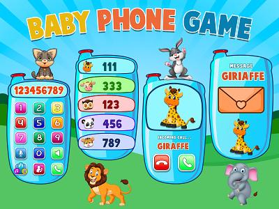 Baby Phone Game 👶📱 illustration photoshop