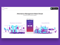 Illustration and Design for Aloha App Landing page