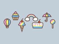 Rainbow icons
