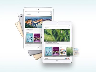 WTO Digital publications app concept