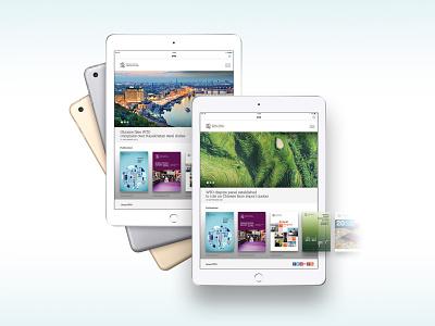 WTO Digital publications app concept publication ux design app ui visualdesign digitaldesign