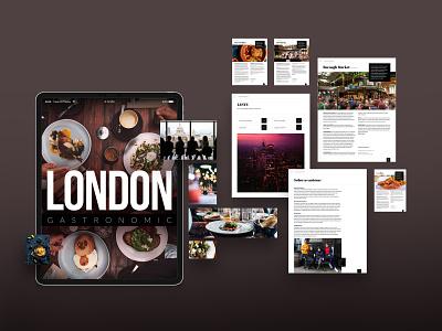 London Gastronomic food and drink food gastronomy ipad digital publishing publishing london ux app design ui visualdesign digitaldesign