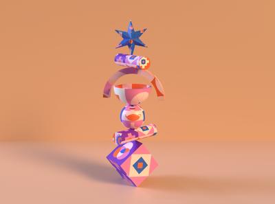 Shapes & Forms Exploration geometric art illustraion forms adobe dimension 3d geometric