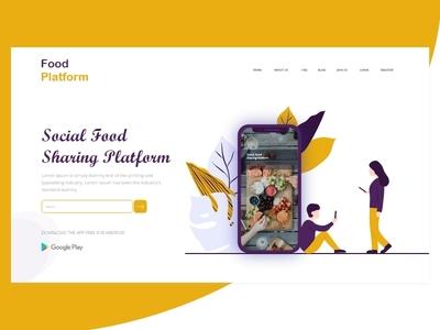 Web banner - sharing food platform
