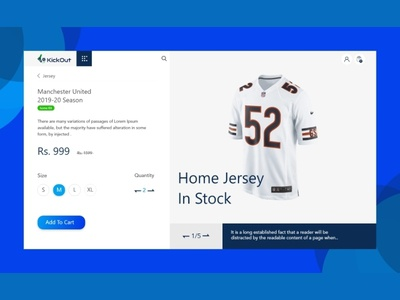 Shopping Cart - Product Details Page UI