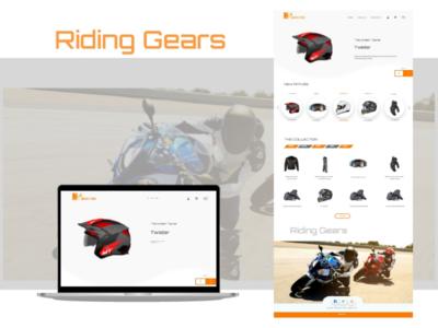 Riding Gears Online Shopping Cart