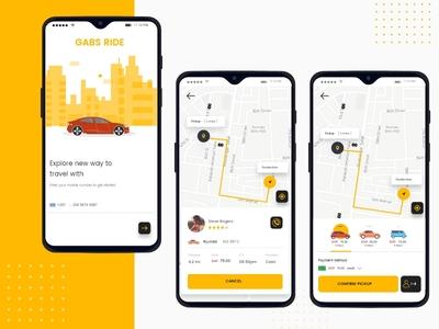Cab Booking Mobile App UI