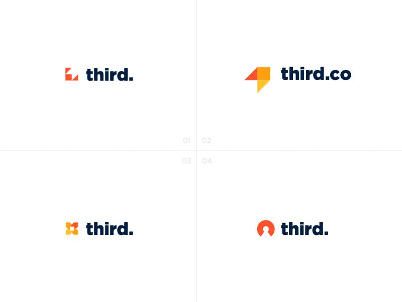 Logo Proposal for Third logo proposal growth arrow polygon branding third gotham identity
