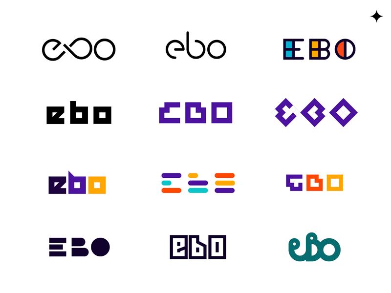 EBO Logo Exploration ebo identity logo logotype mark branding exploration tryout
