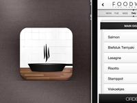 Food app icon & interface