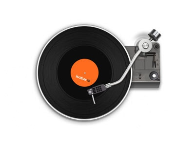 Record player turntable illustration vinyl practice music record player
