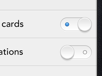 CardCloud toggles