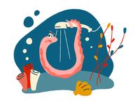Sea life illustrations graphic design design interface illustration fish sea vector illustration vector illustration illustrator