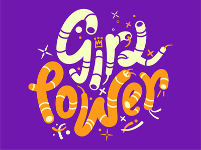 Girl power Lettering! girls power female lettering icons8