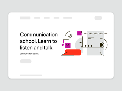 Communication is a skill design vector communication illustration illustrator graphic design