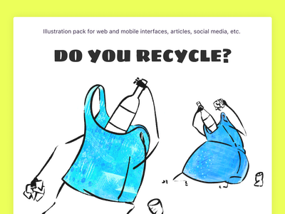 Do you recycle? texture raster eco awareness litter garbage garbage bag egology recycle illustration design ui design graphic design icons8 illustrator