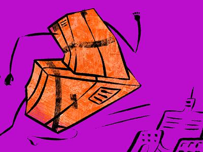Delivery or cardio? running box delivery graphic design illustration design illustrator