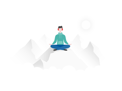 Interface Illustration: Unsubscribed illustrator ux ui graphic design interface illustration unsubscribed calm meditation mountains icons8 illustration unsubscribe