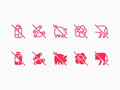 iOS icons: Nutrition Facts halal lactose diet illustrator digital art graphic design icons 8 design