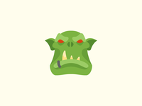 Flat Color Icon: Orc