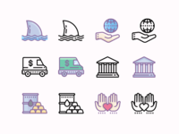 Cute Outline and Color Icons