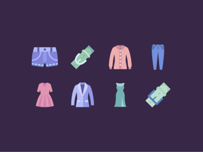 Flat Icons: Clothes