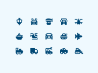Material Design Rounded: Transport