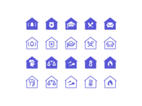 iOS Icons: City Buildings